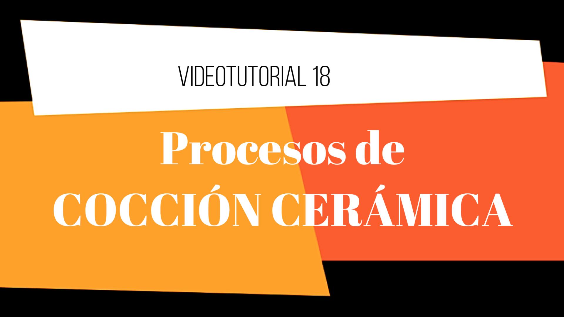 Procesos de cocción cerámica. El final del proceso cerámico tiene lugar con la cocción de la pieza, es la culminación del trabajo creativo.