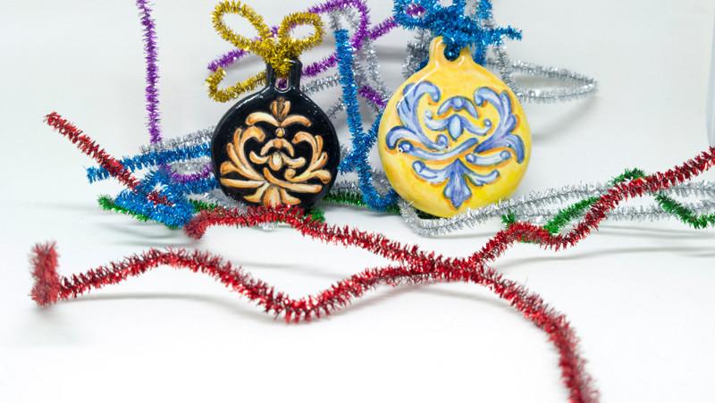Bolas de Navidad: Talavera y Versace. Vídeo 33